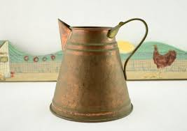 Decorative Water Pitcher Vintage Decorative Copper and Brass Water Pitcher Can Container 80
