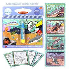 Magical Water Coloring Book With Water Pen For Kids