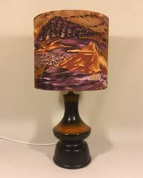 beyond the shire vintage lamp with handmade shade