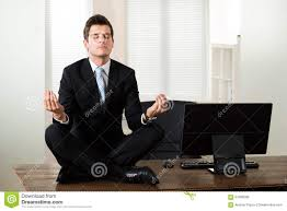 meditation businessman office. Businessman Doing Meditation In Office I