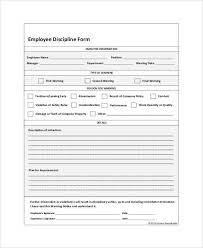 Disciplinary Write Up Forms Employee Write Up Form For Disciplinary Action Employee