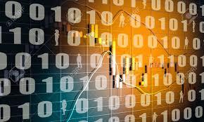 Code Stock Chart Forex Candlestick Pattern Trading Chart Concept Financial Market