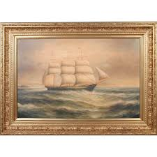 ship at sea oil painting j010 sc018 4