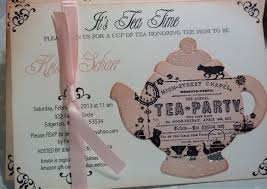 Kitchen Tea Invites Baby Shower Tea Party Invitation Vintage Elegant Set Of 10