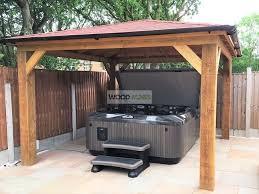 3m x 3m regal gazebo very heavy duty wooden hot tub gazebo kit wood shelter