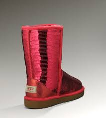... UGG Classic Short Glitter Boots 3161 Red Enthusiasm ...