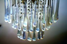 glass teardrop chandelier clear prism lamp pendant free in crystal from lights lighting