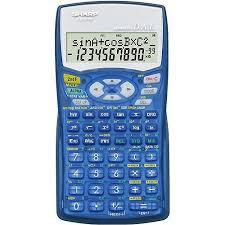 sharp calculator. sharp el-531wbbl scientific calculator, translucent blue calculator