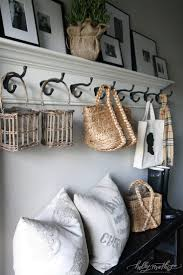 Wall Coat Rack With Baskets Furniture Mirrored Dresser Frameless Mirror Coat Stand Coat And 64