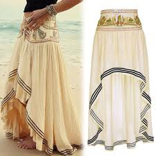 High Low Skirt Pattern Fascinating Women Chiffon Skirt Vintage Style Long Maxi Skirts For Women High