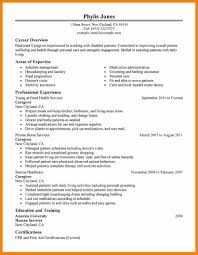 100 Caregiver Resume Samples Sample Resume For Experienced