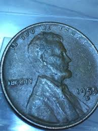 2018 lincoln penny. unique 2018 1955 d lincoln penny bie error between b and e on 2018 lincoln
