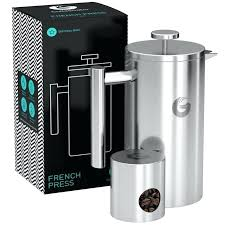 coffee gator vacuum insulated french press maker silver target