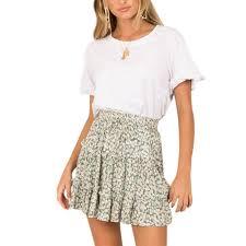 Women <b>Summer 2019</b> New Fashion <b>Bohe</b> High Waist Ruffled Floral ...