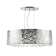 diy drum chandelier um size of worldwide lighting light chrome oval drum chandelier with crystal modern