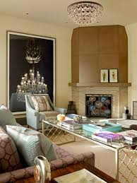 example of a trendy living room design in san francisco with a corner fireplace