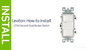 leviton presents how to install a decora combination device with two single pole switches