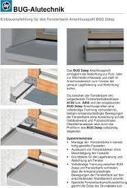 Bug Alutechnik Einbauempfehlung Für Das Fensterbank Anschlusspofil