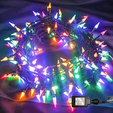Intertek Christmas Lights Twinkle Star 200 Led 66ft Christmas String Lights Upgrade Mini Clear Fairy Lights With Safe Adapter 8 Lighting Modes Green Wire String Light For