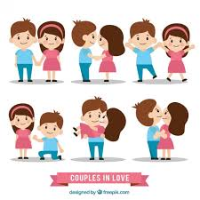 Lovely Couple In Love Set Vector Free Download Classy Lovely Couples In Love