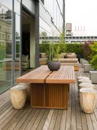modern wood patio furniture. Brilliant Modern Tree Stumps With A Modern Table Outdoor  With Modern Wood Patio Furniture U