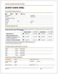 Registration Form Templates For Word Event Registration Form Template Charlotte Clergy Coalition