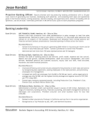 Bank Resume In Chicago Sales Banking Lewesmr