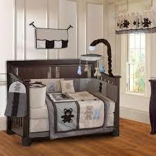 boy baby cribs with babyfad teddy bear piece boys baby crib bedding set including al mobile