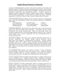 cover letter it resume summary statement examples resume summary sample resume for process worker
