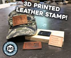 leather embossing with a 3d printer