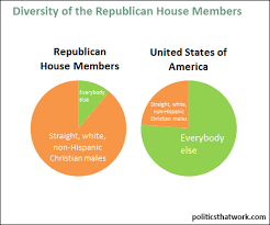 graph depicting demographic breakdown of republicans in the house of representatives