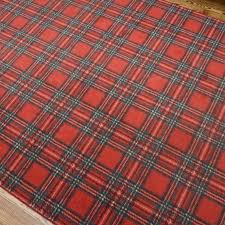 power loomed tartan plaid area rug ebth