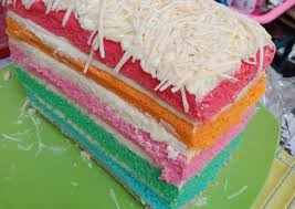 Rainbow cake cuma 7 telur jadi 12 cm super lembut. Resep Rainbow Cake Kukus Putih Telur Oleh Rini Rizky Cookpad