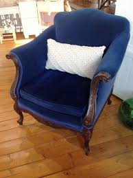 vintage velvet chair. Perfect Velvet Vintage Velvet Accent Chair  SOLD Throughout E