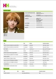 Actor Resume Examples Fiveoutsiders Com