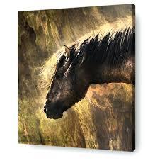 horse wall art horse wall art canvas print portrait of wild horse on wood 3d horse