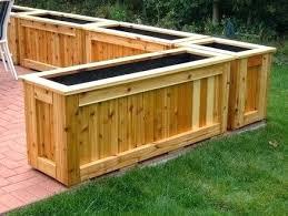 log planter box tree patio wood