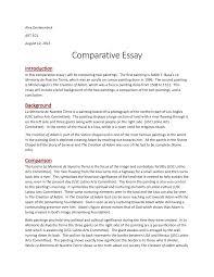 Compare Two People Essay Art 101 Comparitive Essay Art 101 Osu Studocu