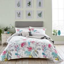 bright white beau bloom bedding