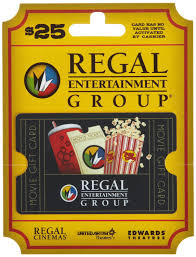 Amazon Com Regal Entertainment Gift Card 25 Gift Cards