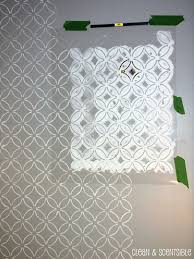 stenciled bathroom wall and the cutting edge stencil winner clean and scentsible