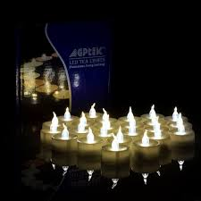 100 PCS Flameless Tea Lights, AGPtek Battery Operated No flicker Steady LED  Candles for Holidays