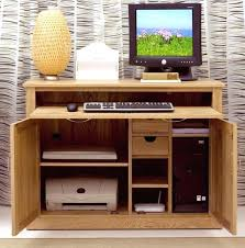 Ergonomic Hide Away Desk For Home Design Furniture Solid Oak Office Hideaway  Computer And Filing Contemporary