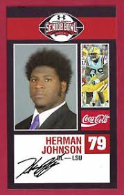 HERMAN JOHNSON 2009 SENIOR BOWL RC LSU GEAUX GO TIGERS ROOKIE CARD CHICAGO  BEARS | eBay