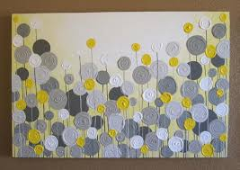 wall decor paintings yellow and gray wall art kitchen wall decor canvas