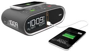 hih33 patented triple display alarm clock with individual dimmer control and dual usb ports for convenient charging
