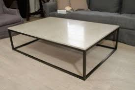 stone coffee table. Seagrass Stone Top Coffee Table On Blackened Metal Base 1 A