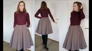 Skirt Patterns With Pockets Mesmerizing Sewing A Circle Skirt With Geometric Pockets YouTube