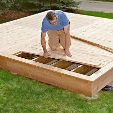 building a low deck platform deck