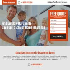 money saving home insurance quote landing page design home insurance example